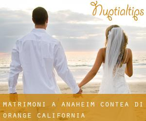 matrimoni a Anaheim (Contea di Orange, California)